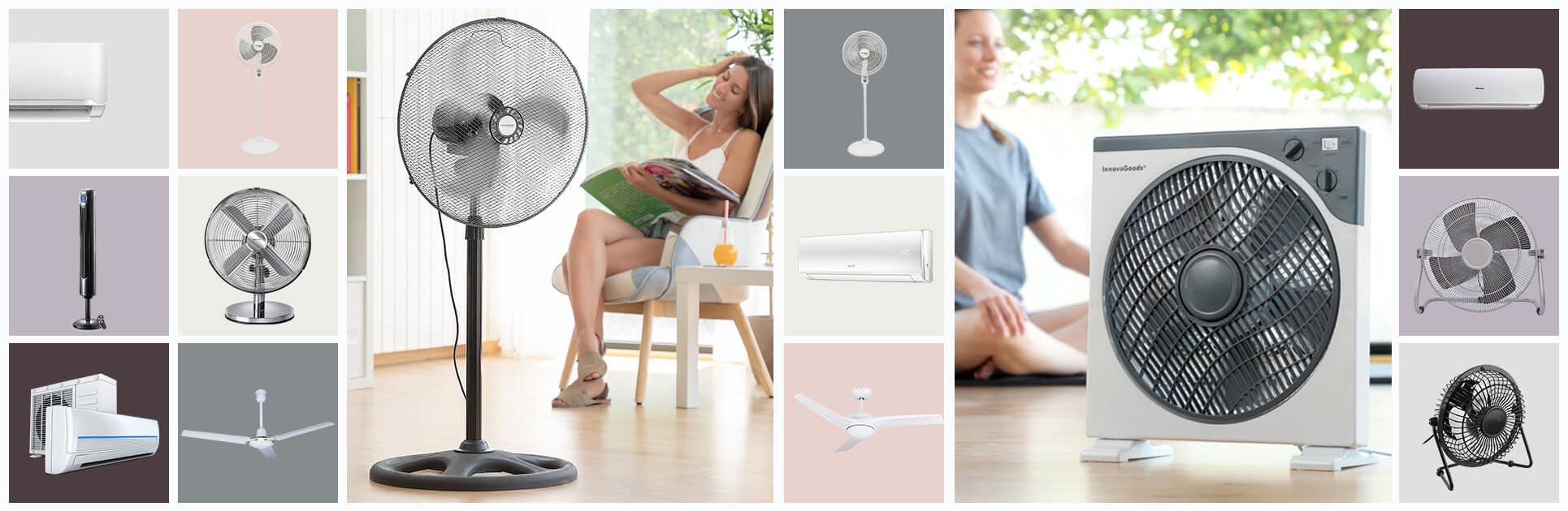 aire acondicionado y ventiladores